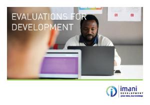 Evaluations for Development